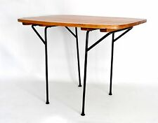 "RARE Umanoff Vtg Mid Century Danish Modern Iron Slat Wood CHILD""S Side End Table"