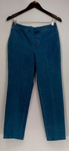 Isaac Mizrahi Live! Petite Size Jeans 6P 24/7 Denim Straight Leg Blue A297722