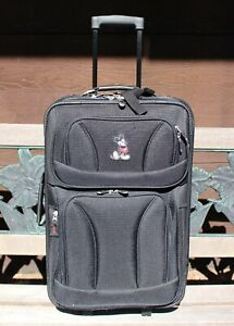 DISNEY-Mickey-Mouse-Classic-Black-Rolling-Suitcase-Luggage-23-034