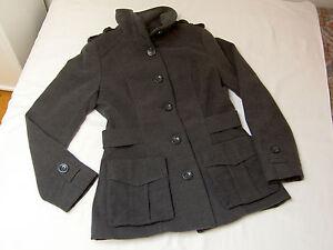 Damen-Jacke-Gr-34-von-H-amp-M-dunkelgrau-selten-getragen-Winterjacke