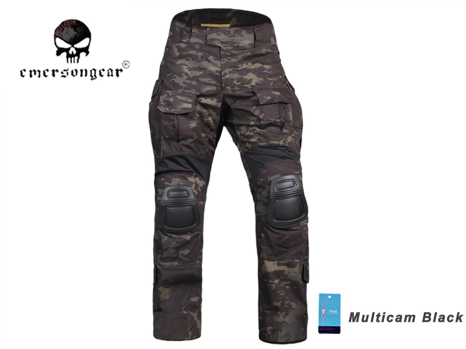 Emerson Combat Gen3 Pantalones Con Rodillera Airsoft Caza Pantalones Tácticos MCBK
