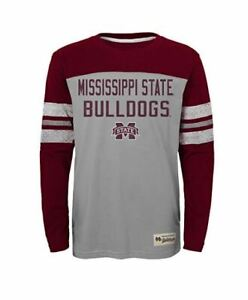 NCAA-Mississippi-State-Bulldogs-Boys-Legacy-Long-Sleeve-Crew-Tee-Youth-L-12-14