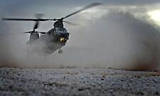 RAF Chinook Helicopter 18 Squadren Desert Vortex Warrior 12x8 Inch Photograph