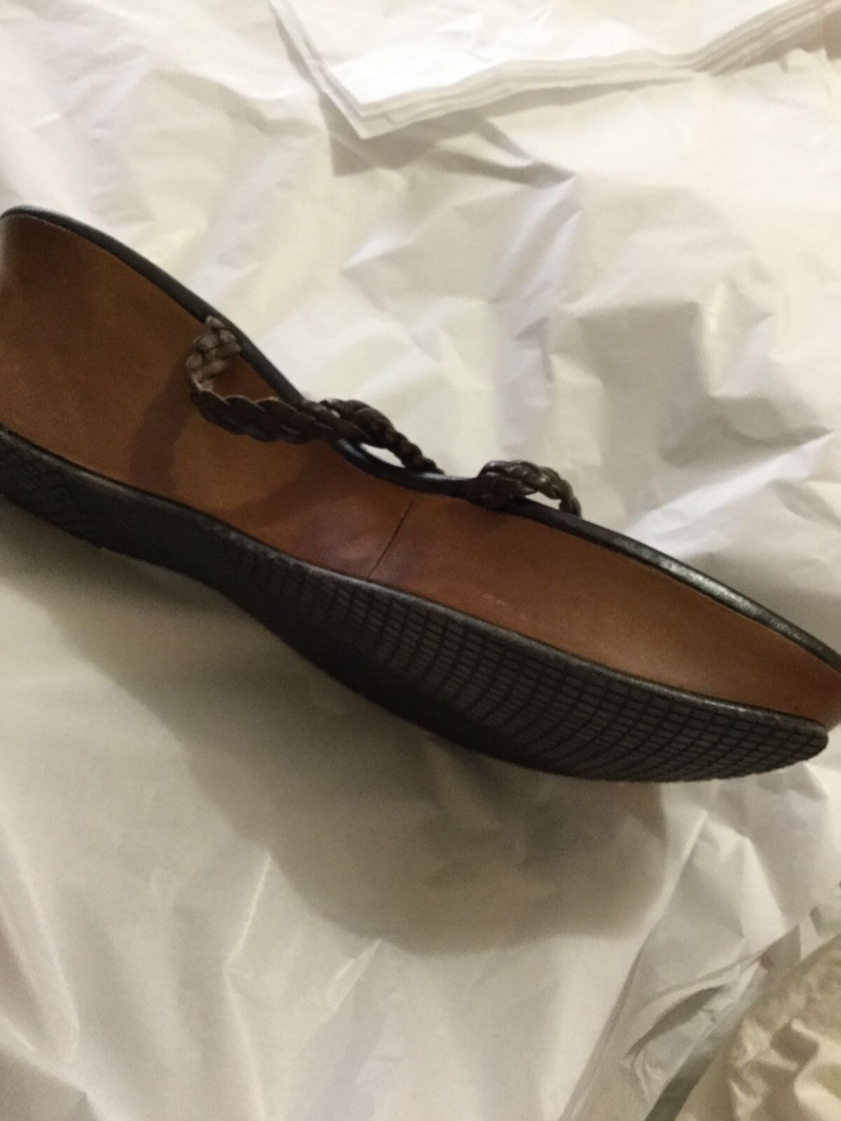 NEW NEW NEW Stuart Weitzman Brown Woven Leather Wedges - 10M 6976f6