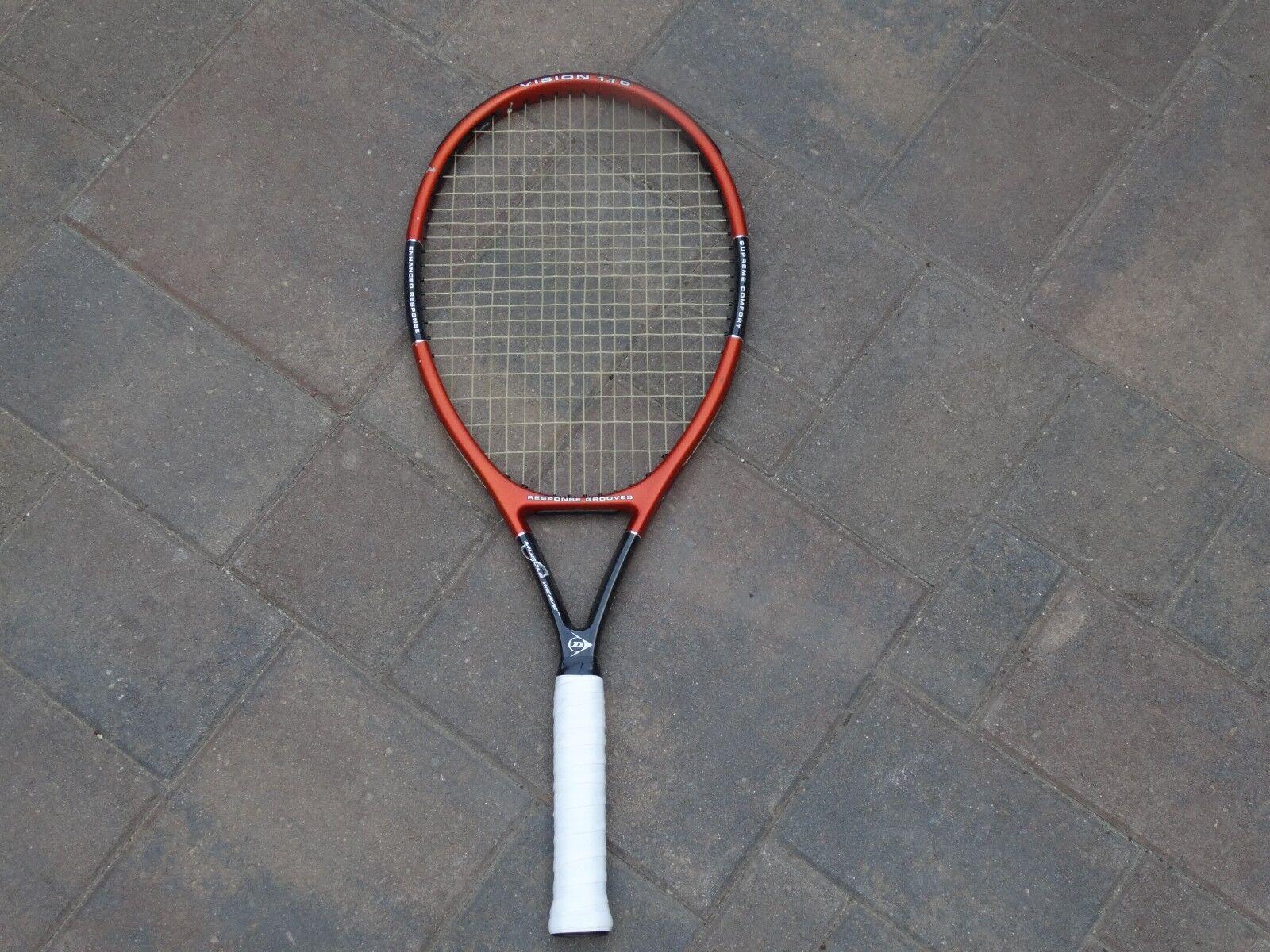 Dunlop Vision 110 Raqueta De Tenis Raqueta surcos de respuesta de tejido muscular  8