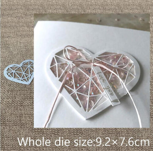 Metal Cutting Die cut Dies Love Heart Decoration Scrapbook Album Paper Card Craf