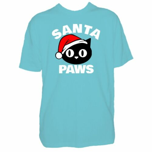 Kids SANTA PAWS GATTO T SHIRT-Carino Natale GATTINO amante-Per Ragazzi /& Ragazze T-Shirt