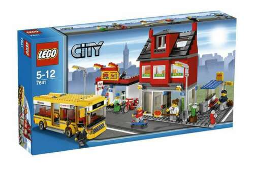 City Corner Precut Custom Replacement Stickers voor Lego Set 7641 2009