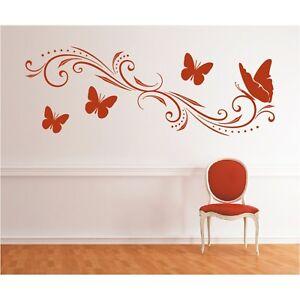 Wandtattoo-Ornament-Verschnoerkelte-Ranke-Schmetterlinge-Sticker-Wandsticker-1