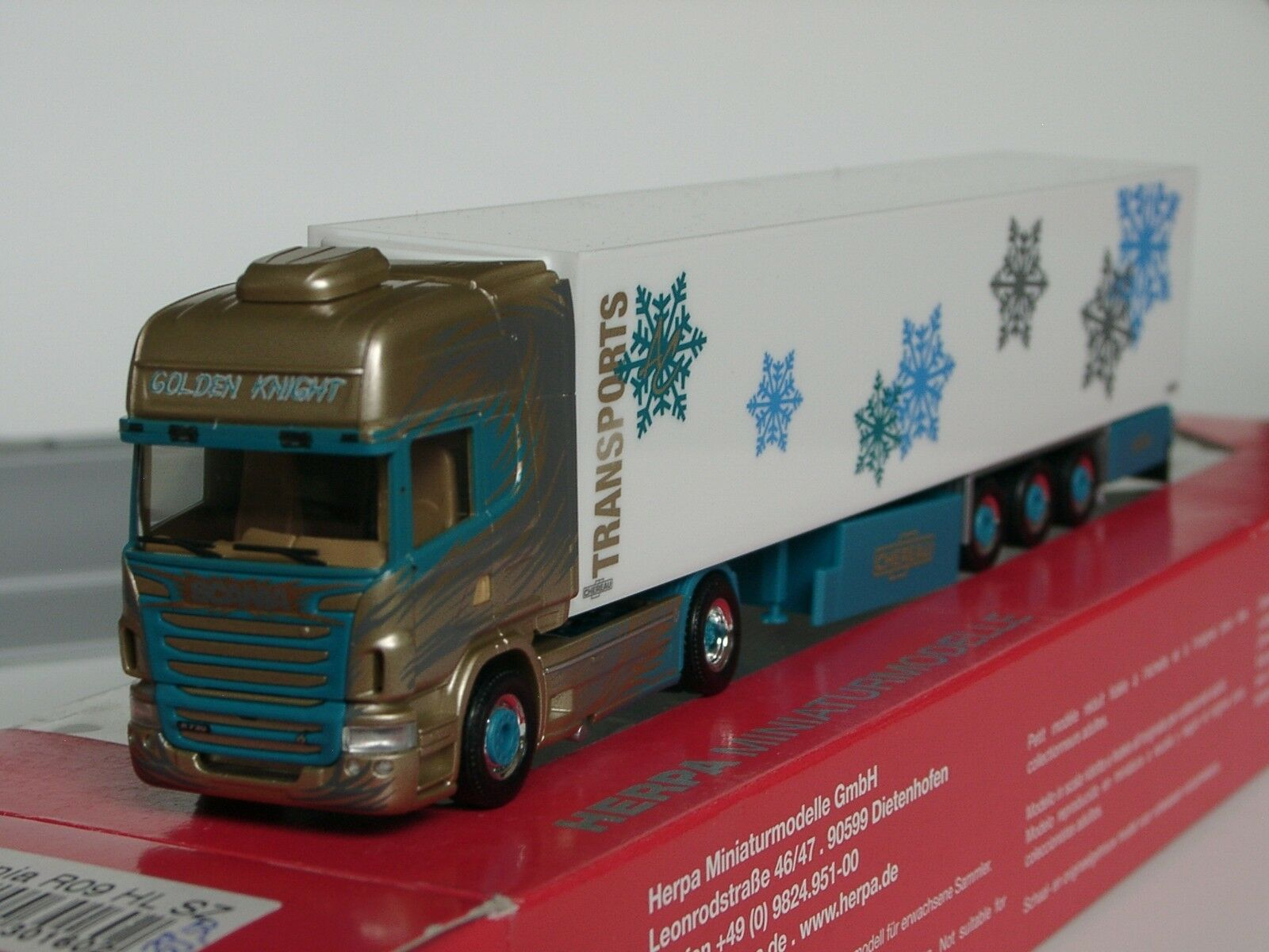 Herpa Scania R TL TL TL CHEVALIER  golden Night Kühlkoffer - 301602 - 1 87 sold out ac333b