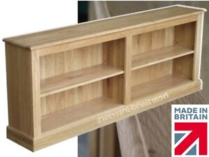 Image Is Loading Solid Oak Bookcase Low 6ft Wide Split Adjule