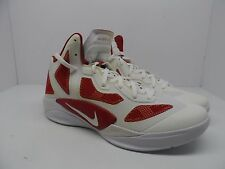 Nike Men's Zoom Hyperfuse 2011 TB Basketball Shoe White/Varsity Red Size 12.5M