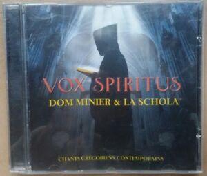 cd Vos spiritus Dom Minier & La Schola chant grégorien contemporain Alléluia ...