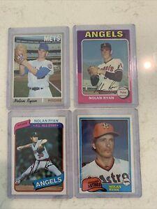 1970 1975 1980 1981 topps baseball cards nolan ryan Lot