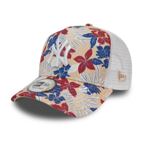 New Era Kinder Trucker Cap New York Yankees floral beige