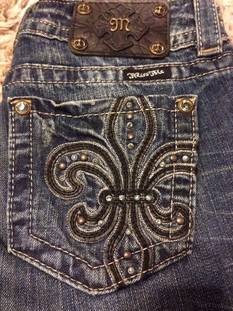 NWT  Miss Me Jeans Skinny Cut Leg - Size 26 - JP5145S4