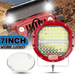 Pair-7-039-039-300W-LED-Round-Work-Light-Spotlight-Offroad-Driving-Car-Truck-Boat-Spot