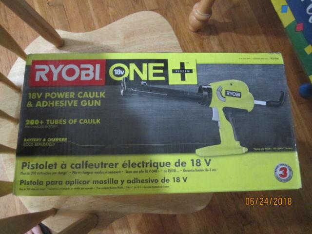 NEW  RYOBI ONE 18V POWER CAULK & ADHESIVE GUN  P310G
