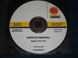 Details about NEW HOLLAND F5A F5C ENGINE SERVICE SHOP REPAIR BOOK MANUAL on