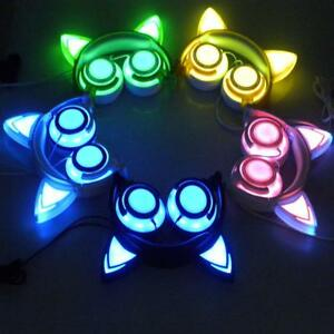 Kids-Computer-Cat-Ear-Headset-LED-Music-Headphones-Child-Earphone-cz-q-n
