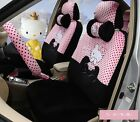 ** 18 Piece Black&Pink Hello Kitty Little Bow Car Seat Covers **