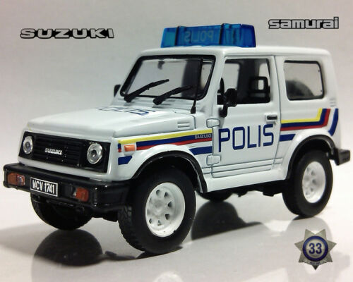 Suzuki Jimny Samurai Malaysian Police 1969 Year 1//43 Scale Diecast Model Car