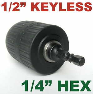 1-pc-keyless-1-16-034-1-2-034-Cap-with-1-4-034-Hex-adapter-Drill-Chuck-S