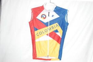 Hincapie-Men-039-s-Es-Pasion-Rain-Thermal-Cycling-Vest-Medium-Colombia-National-NEW