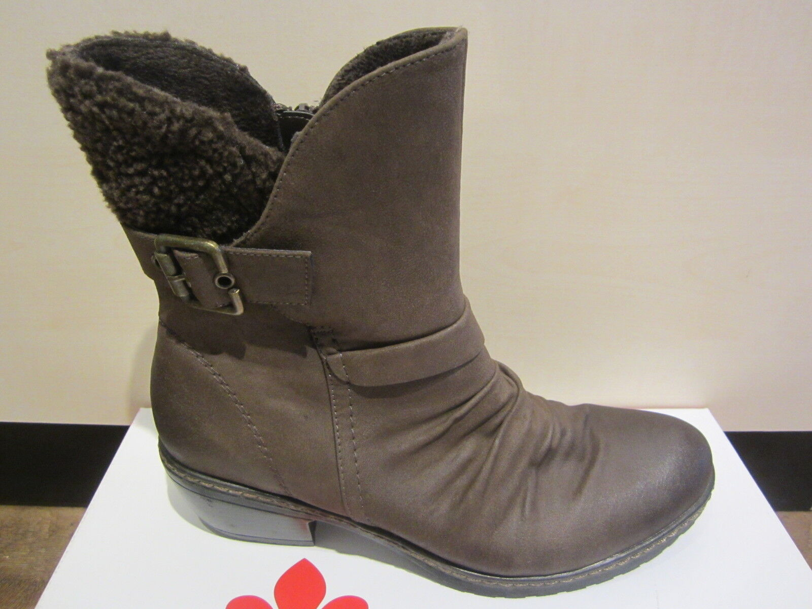 Rieker Boots, Brown, Not Leather, Warm Lining 90764, NEW