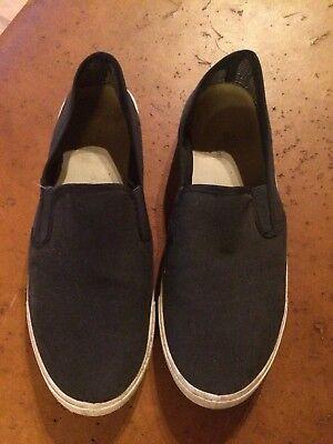 Schuhe Stoffschuhe Slip-On Herren Gr. 40 blau marine