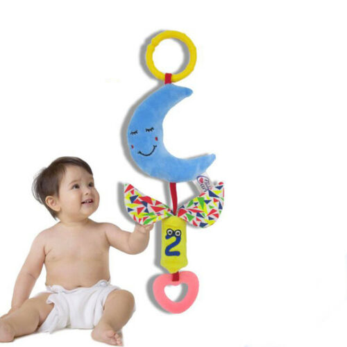 Baby Crib Mobile Cloud Stars Moon Bed Hanging Rattles Wind Chimes Stroller Toys