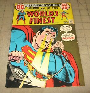 WORLD-039-S-FINEST-213-Sept-1972-VG-FN-Condition-Comic-Superman-and-The-Atom