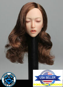 """1//6 Asian GIRL Head Sculpt LONG HAIR For 12/"""" PALE PHICEN Figure ❶USA IN STOCK❶"""