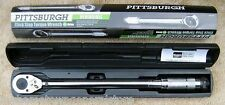 "NEW PITTSBURGH PRO 1/2"" DRIVE CLICK TYPE TORQUE WRENCH WITH HARD CASE"