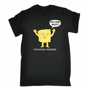 Immature-Cheddar-Poo-Bum-Willy-vulgarites-T-shirt-fromage-Cartoon-Cadeau-D-039-Anniversaire