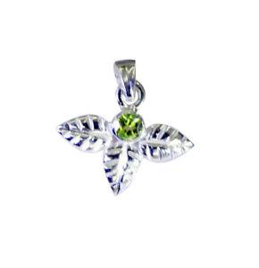 feiner-Peridot-925-Sterling-Silber-gruener-Anhaenger-echter-Designer-de-Geschenk