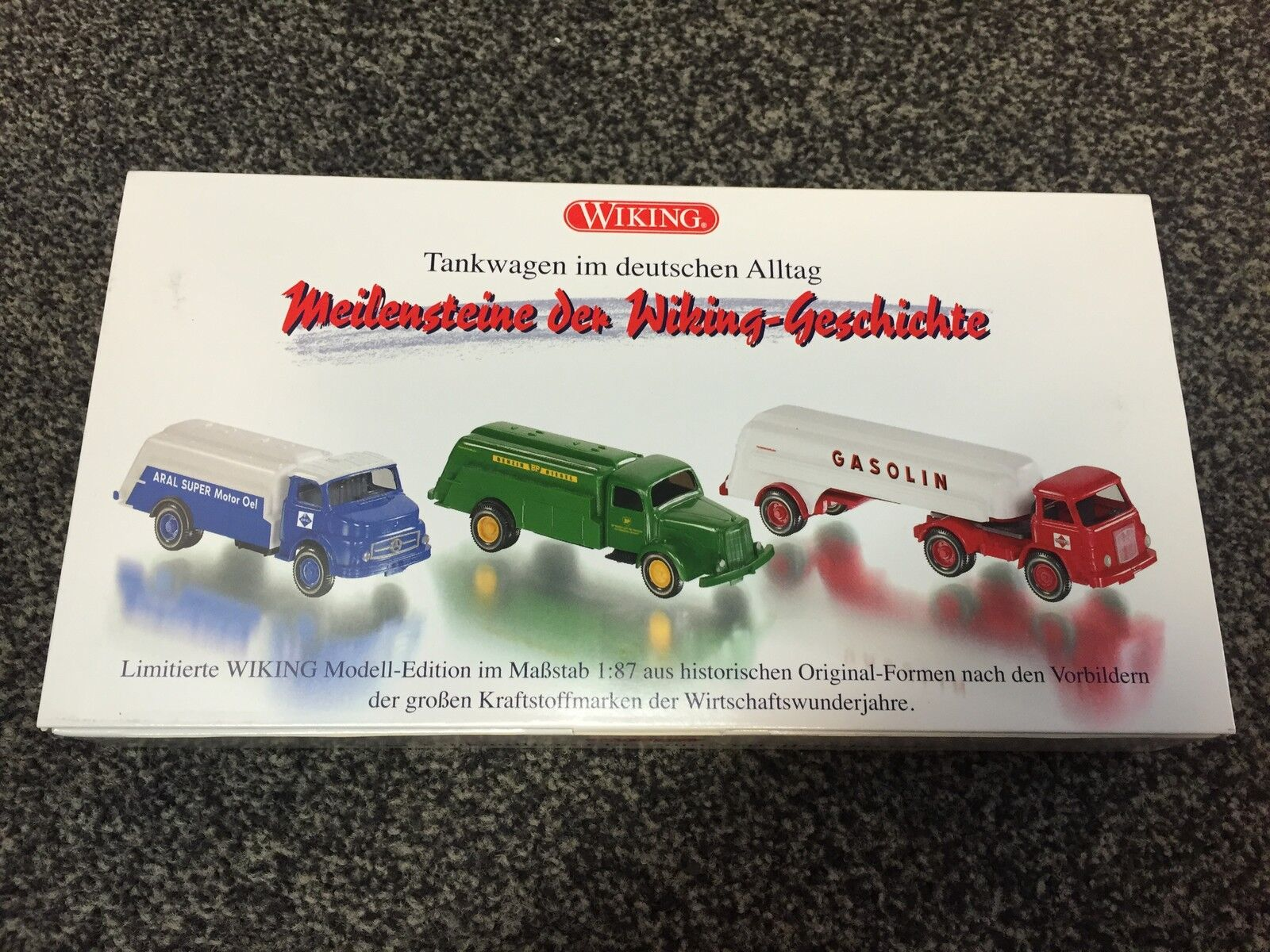 Camion citerne en allemand quotidien set 1 87 wiking