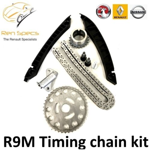 NEW GENUINE OEM TIMING CHAIN KIT R9M ENGINE 1.6 DCI  with tensioner /& guides
