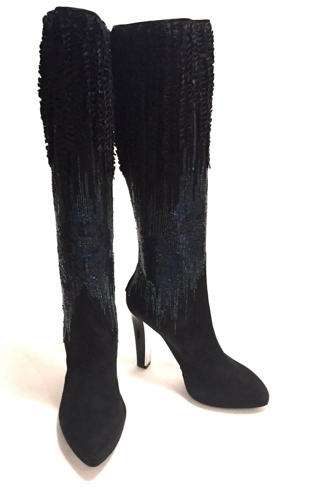 Rene Caovilla Boots Platform Ankle Suede Heel Shoes sz:36Eur  6-US made in Italy