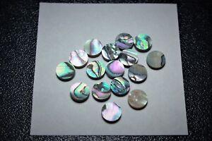 1 Inlay Set Of 24pcs Inlay Material Vert Abalone Dots (7 Mm X 1.55 Mm)-afficher Le Titre D'origine