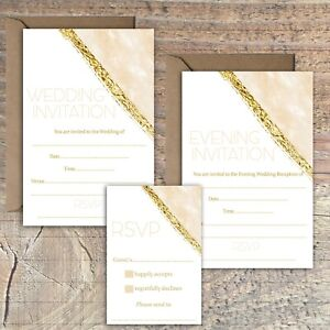 WEDDING-INVITATIONS-BLANK-GOLD-AND-PEACH-BEIGE-MARBLE-PRINT-EFFECT-PACKS-OF-10