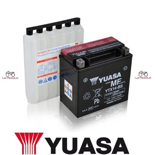 BATTERIA YUASA YTX14-BS APRILIA ETV Caponord / ABS 1000 2001 2002 2003 2004 2005