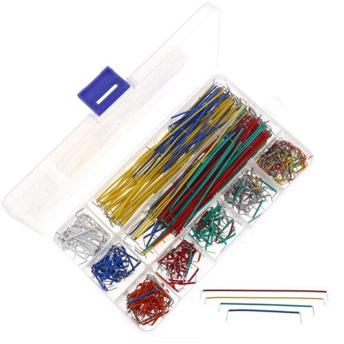 560pcs Copper Breadboard Jumper Harness U-shape Solderless Jumper Wire With Box