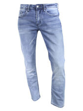 Buffalo David Bitton Mens Ash-X Slim Fit Crinkled Bleach Denim Jeans