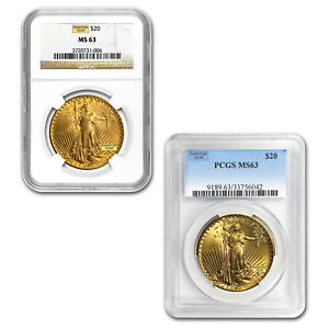SPECIAL PRICE! $20 Saint-Gaudens Gold Double Eagle MS-63 PCGS/NGC Random