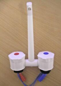 Caravan Mixer Water Tap - Microswitched - WHITE    (Nimbus)