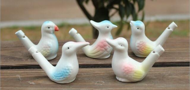 Ceramic Bird Whistle Cardinal Vintage Style Water Warbler Novelty Child