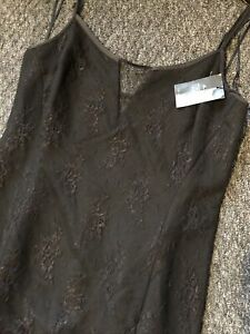 Stunning-Black-Lacy-Strappy-Next-Party-Dress-New-Size-12