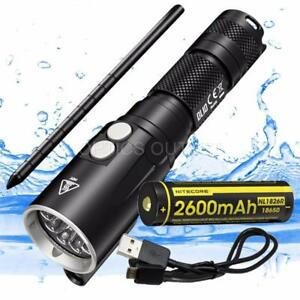 NITECORE-DL10-1000-Lumen-Diving-White-Red-Flashlight-amp-USB-Rechargeable-Battery