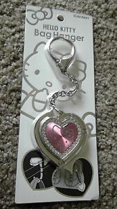 8633485d86fb Image is loading RARE-Hello-Kitty-Silver-Bag-Hanger
